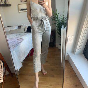 Leith Paper Bag High Waist Jumpsuit